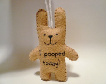 I pooped today funny Christmas ornament decoration gag gift, poop, fart, poo