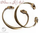 15% off and free standard shipping for July Brass Bat Skull Bracelet