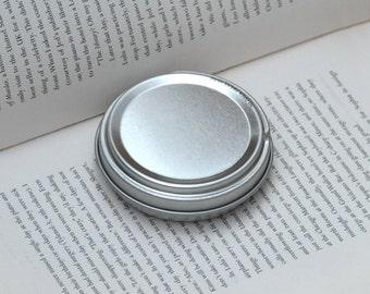 50ml metal tins, blank round tin boxes, press to open tin box, small diy storange box, 1 tin box