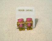 Vintage Knockoff Strawberry Shortcake Earrings