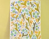 Cactus #2- original gouache painting