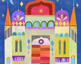"Indian Palace 8""x8"" Art Print"