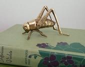 Brass Cricket Grasshopper Figurine