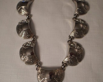 ART DECO NECKLACE / Choker / Silver / Old Hollywood / Glamour / Retro / Mid-Century Modern / Couture / Classic / Trendy / Chic / Accessory