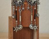 Stars and Moons Fortune Teller Earrings // 1970s Chandelier Pierced Drop