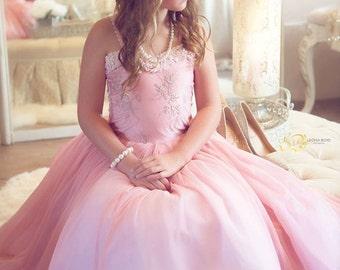 Blush Pink Rose Girl Dress
