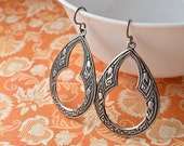 Large Silver Earrings, Niobium Jewellery, Hypoallergenic, Moroccan Drop, Silver Tear Drops, Bohemian Jewellery, UK Earrings