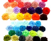 Shabby Flowers 2-1/2 inches - Shabby Trim, Shabby Rose Trim, Shabby Flowers by the Yard, Shabby Flowers Wholesale, Chiffon Trim, Shabby Rose