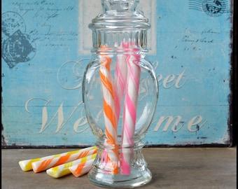 Vintage Apothecary Jar / Vintage Candy Jar / Wedding Candy Buffet /Penny Candy /  Display Jar