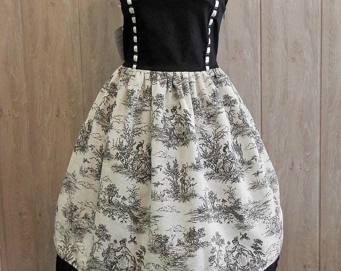 Featured listing image: SALE: Toile Black and white Dress