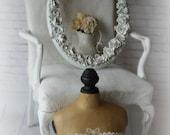 R O S E S , Handmade  Shabby Chic Roses Oval Frame, Cottage Nursery, Vanity,