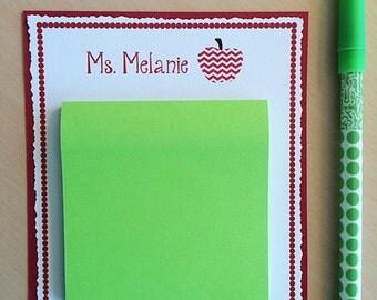 Teacher Gifts, Gift for Teacher, Personalized Teacher Notepad, Personalized Teacher Gift, Custom Notepad, Teacher Notepad