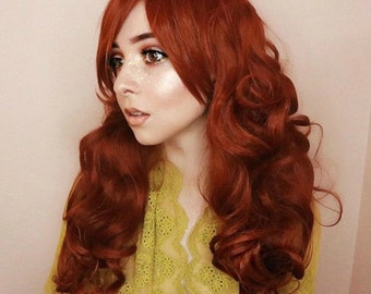 SALE Auburn wig | Red wig, curly red wig, scene wig | Auburn Red Hair | Natural Boho Indie Hair | Autumn Darling