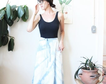 vintage indigo dyed denim skirt