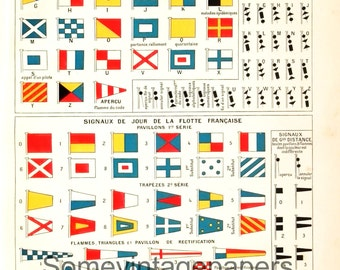 "1900s Sailing signs dictionnary pages digital files antique french encyclopedia 9x12"" instant download"