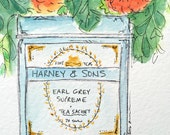 ORIGINAL Harney & Sons Flower Tin