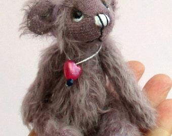 Blueberry mini mohair teddy bear kit