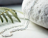 Delicate Sterling Silver Necklace Chain - Shiny/Oxidized -Custom Length- by Quintessential Arts