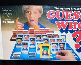 Vintage Guess Who Board Game Milton Bradley Complete