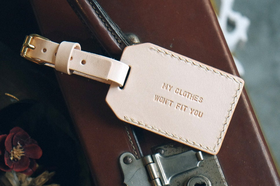 Personalised Luggage Tags Wedding Gift : Personalized Luggage Tag Leather Luggage tag Personalized