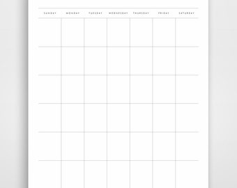 Simple Planner, Monthly Printable Planner, Printable Planner Inserts, Printable Planner Pages, Printable Monthly Kit, Daily Planners