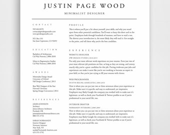 Professional Resume Template, Resume, Resume Template, CV Template, Simple  Resume, CV  Traditional Resume Template