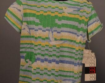 Vtg Cos Cobo Womens Pixel Hawk Eagle Pullover Shirt 50 50 Blend