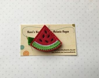 Watermelon Wedge Hair Clip