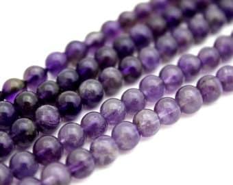 Amethyst Gemstone Beads, 6mm Full Strand, 32 pcs