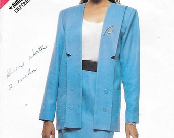 Butterick 3321 See & Sew Misses 80s Jacket and Skirt Sewing Pattern Size 12 14 Bust 34 36