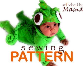 Sewing PATTERN - Tangled's Chameleon Pascal Inspired Baby Costume - sizes 6M to 24M- See full Item Details