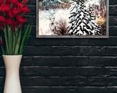 11x14 giclée art print- Full Moon Winter -