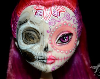 SALE custom ever after high doll calaveras day of the dead repaint ooak EAH sugar skull - Lovely