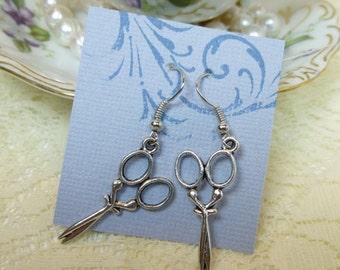 Scissor Earrings Hairdresser Hair Stylist Earrings Tibetan silver earrings