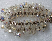 Waterfall Style Bracelet! Weighs 2.5 Ounces! Multifaceted Crystal Beads! AB Crystal Beads! Beautiful Bracelet! Free S&H! On Sale + 20% Off!