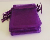 """Purple Organza Bags 3 1/2"""" x 4 3/4"""" Favors 50+ Weddings / Party Favors / Baby Showers / Craft Show Supplies"""