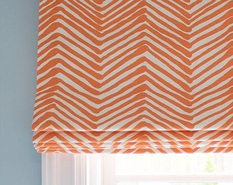 Quadrille Alan Campbell Zig Zag Custom Roman Shade ( Zig Zag comes in 15 colors)