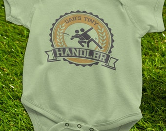 Ultimate Frisbee Baby Onesie, Dad's Tiny Handler Diaper Shirt, Frisbee Baby gift, Ultimate Frisbee Gift, Ultimate Frisbee parents