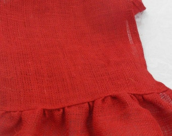 Burlap Table Runner with Ruffle, Red Burlap Runner,  Wedding, Party, Home Decor, Custom Sizes Available