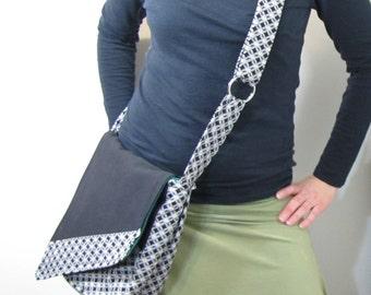 Black Celtic Messenger Bag