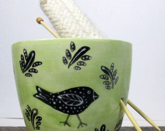 Yarn Bowl Knitting bowl Knitter gift Ready to ship
