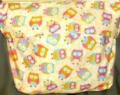Yellow bedside pocket owl themed bed pocket