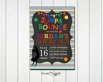 trampoline party invitations etsy au. Black Bedroom Furniture Sets. Home Design Ideas