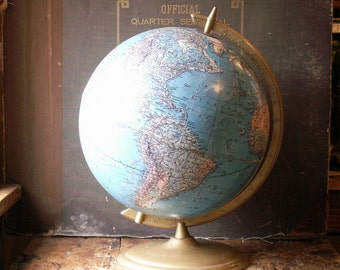 "Vintage Cram 11"" Reference Globe - Great Graduation Gift!"