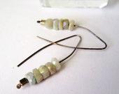 Mystic Aquamarine Earrings Minimalist Modern Jewelry