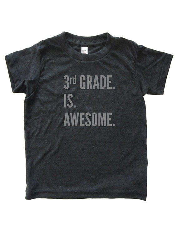 3rd Grade is Awesome - Back To School / First Day of School Tshirt for Third Grade - Youth Boy / Girl Shirt / Super Soft Kids Tee Triblend