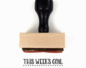 """Rubber Stamp """"This Week's Goal"""" - Planner Stamp for Your Calendar - To Do Goal Setting Stamp - Wood Mounted Stamp"""