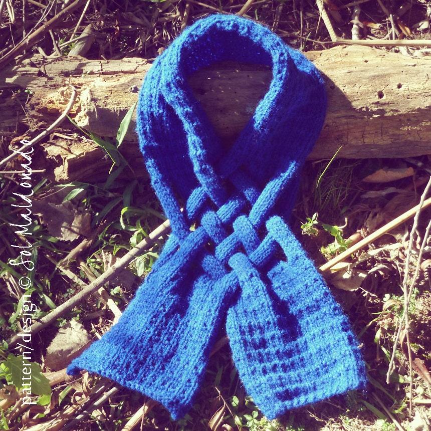 HIM Scarf Knit PDF Pattern Weave PDF cowl knitting Pattern