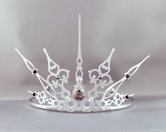 Argente - Silver Tiara Princess Crown Princess Tiara Silver Tiara Filigree Crown Gothic Tiara Grunge Tiara Steampunk Crown