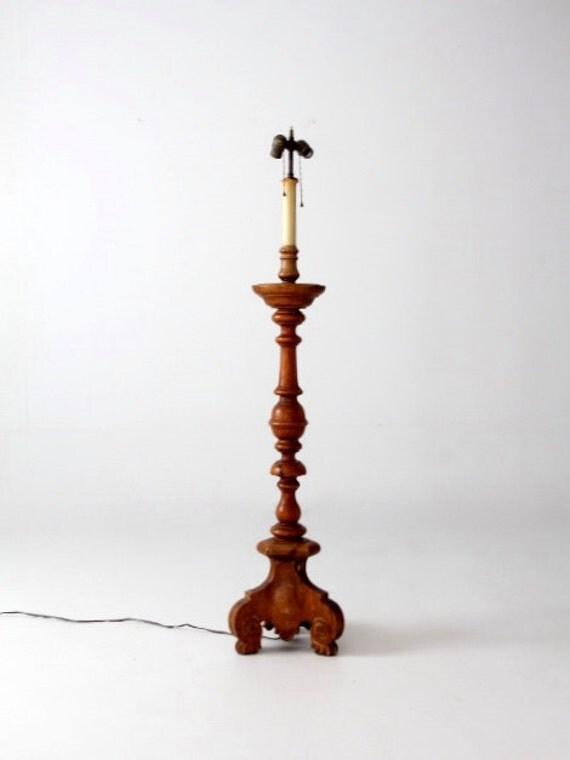 reserve antique turned wood floor lamp. Black Bedroom Furniture Sets. Home Design Ideas